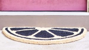 Araliya Fruity Door Mat Jet