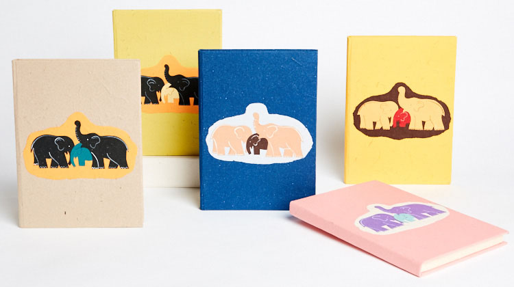 Maximus elephant dung paper large Family journals